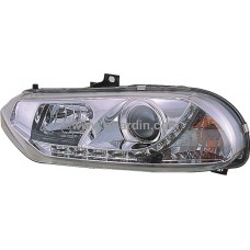Alfa Romeo 156 98-02 Chrome Projector Head Lamp w LED