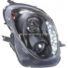 Alfa Romeo Mito 08- Black Projector Head Lamp w LED