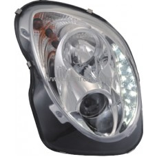 Alfa Romeo Mito 08- Chrome Projector Head Lamp w LED