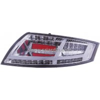 AUDI TT 07-13 Red Clear Light Bar LED Tail Lamp