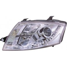 AUDI TT 99-06 Chrome Projector Headlamp w LED