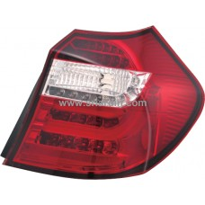 BMW E87 04-06 Red Clear LED Tail Lamp