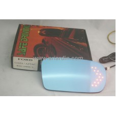 Ford Liata 95- Blue Side Mirror w LED Signal