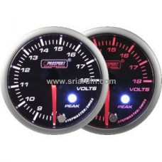 60mm Volt Meter w Peak & Warning