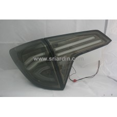 Honda HRV 15- Dark Chrome Smoke Light Bar LED Tail Lamp
