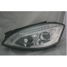 Mercedes S Class W221 06-09 Chrome Projector Headlamp w LED
